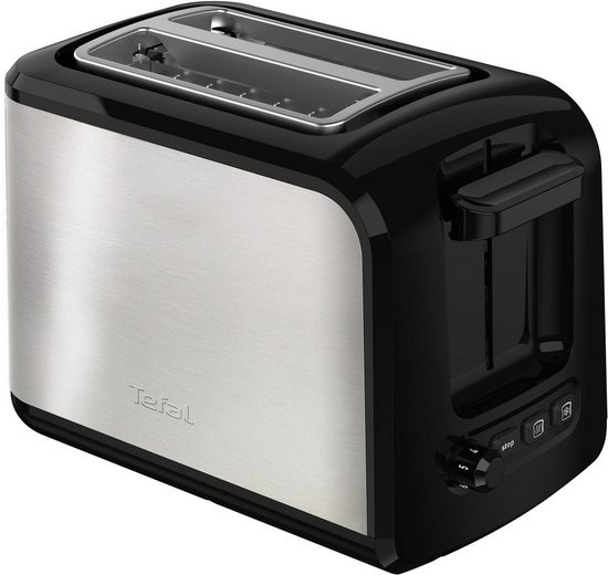 Tefal Toaster TT411D Express Edelstahl, 2 kurze Schlitze, für 2 Scheiben, 850 W