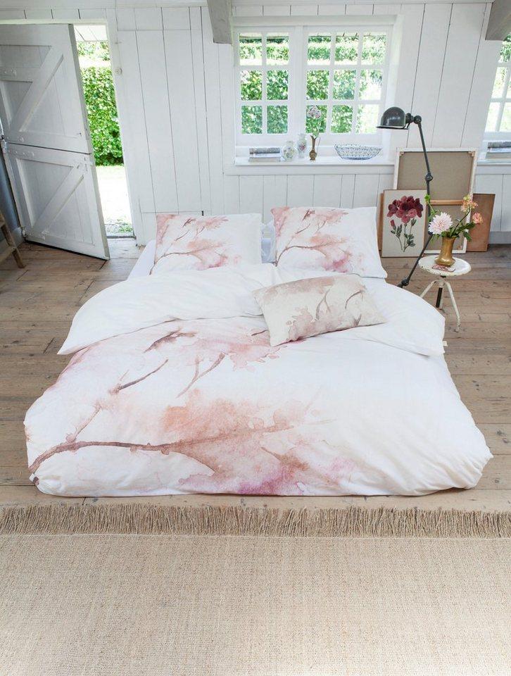 Wendebettwasche Pink Blosom Walra Mit Blumigem Aquarell Online Kaufen Otto