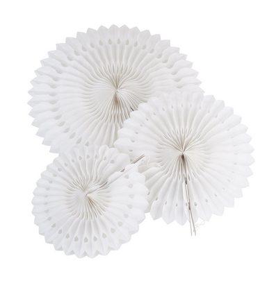 """Wabenpapier """"Blumen Weiß"""", 3er-Set"""
