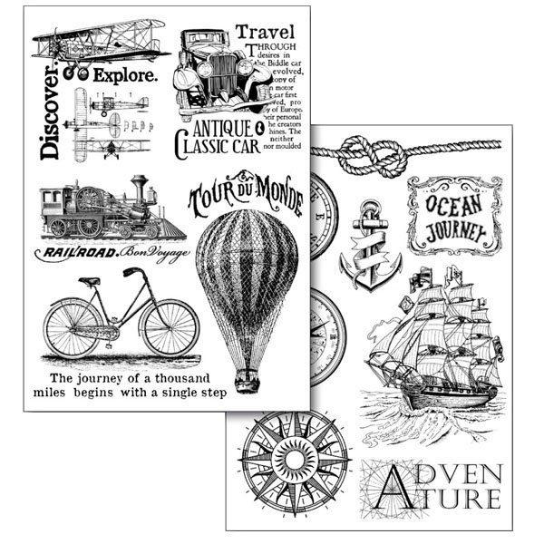 """Stamperia Transfer-Papier """"Travel"""" 2 Stück"""