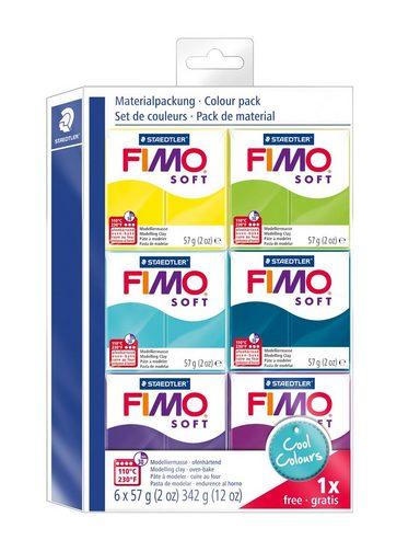 "FIMO Soft Modelliermasse ""Materialpackung"" 6er-Pack"