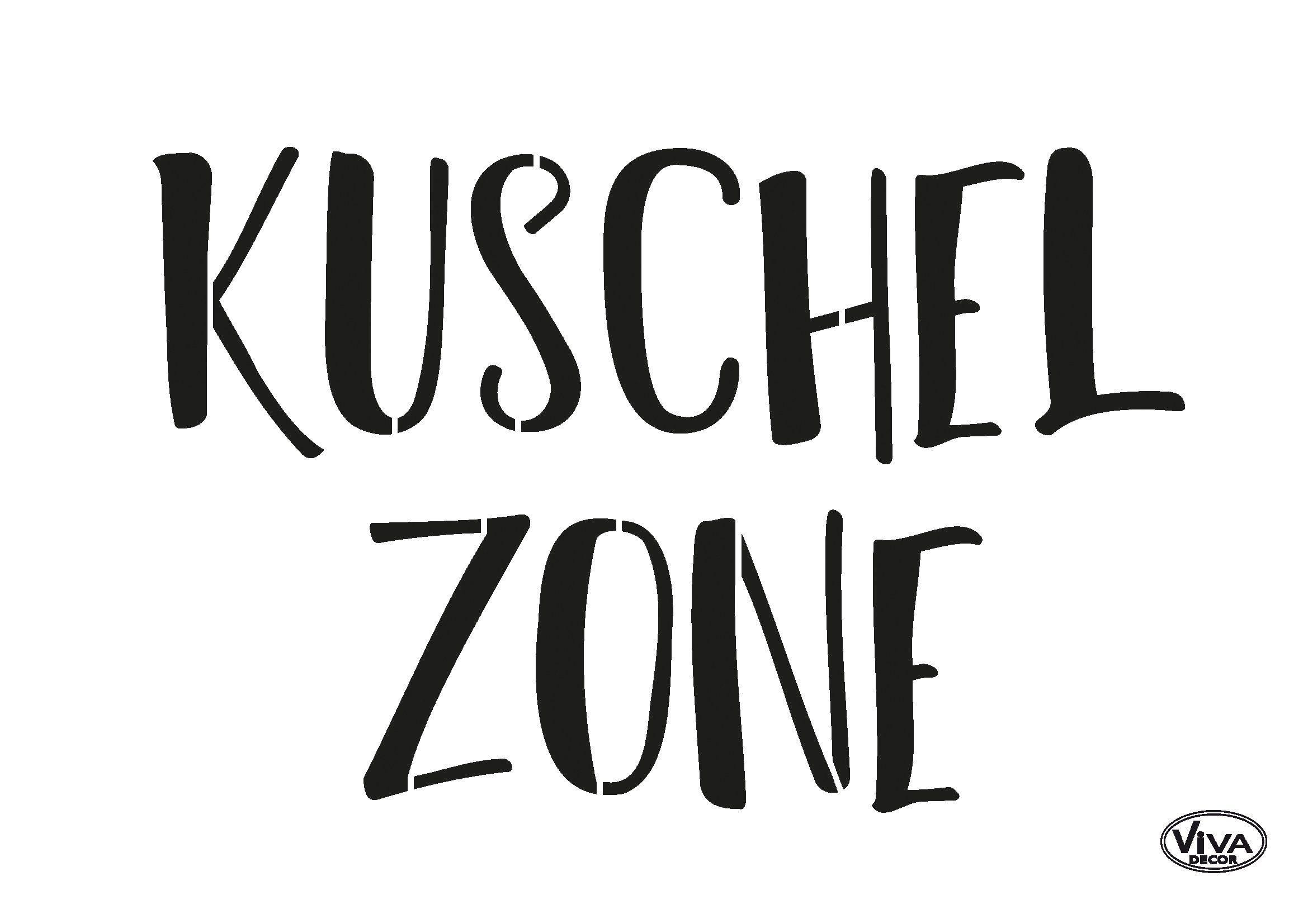 "Viva Decor Schablone ""Kuschelzone"" 21 cm x 15 cm"