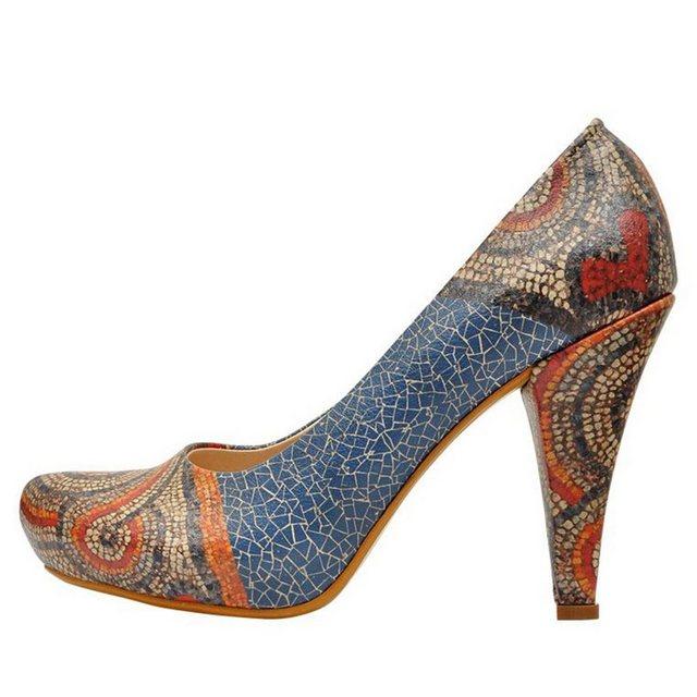 DOGO »Blue Mosaics« High-Heel-Pumps Vegan | Schuhe > High Heels > High Heel Pumps | DOGO