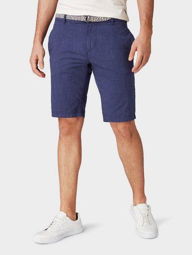 TOM TAILOR Denim Shorts »Strukturierte Chino Shorts mit Gürtel«