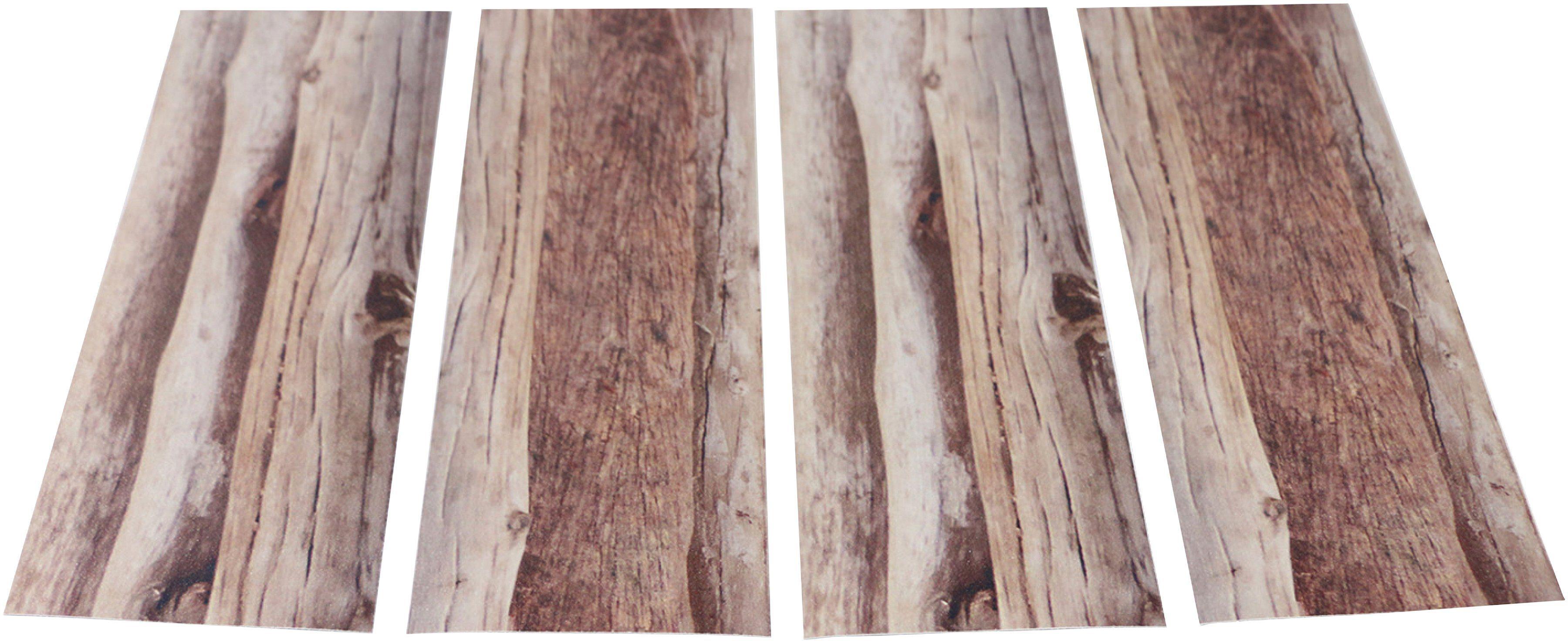 MYSPOTTI Duscheinlage »Klebefliese stepon Dschungelbrücke«, Set 4-teilig, Antirutsch-Aufkleber