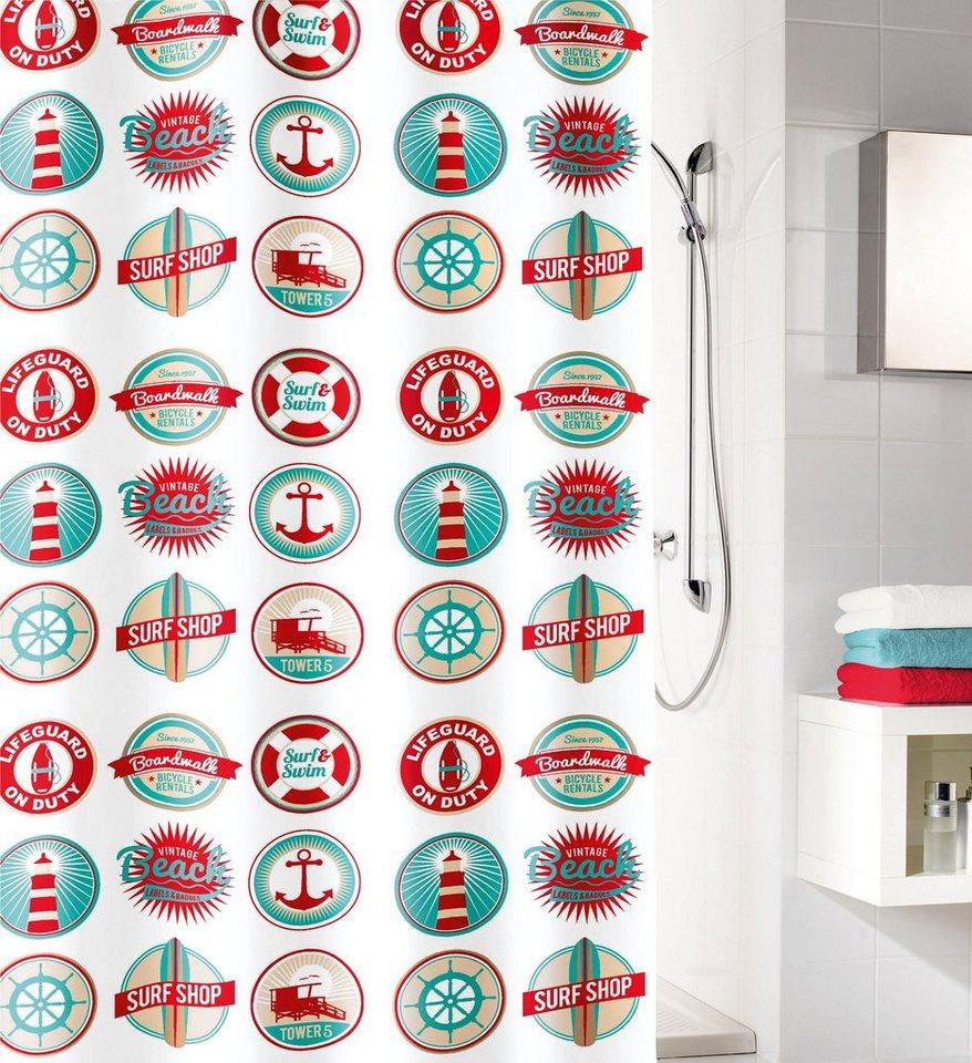 Duschen und Zubehör - KLEINE WOLKE Duschvorhang »Button«, 180 cm Breite  - Onlineshop OTTO