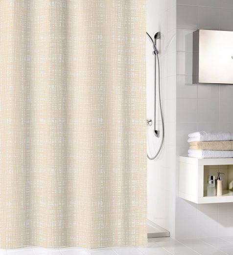 KLEINE WOLKE Duschvorhang »Linen«, 180 cm Breite