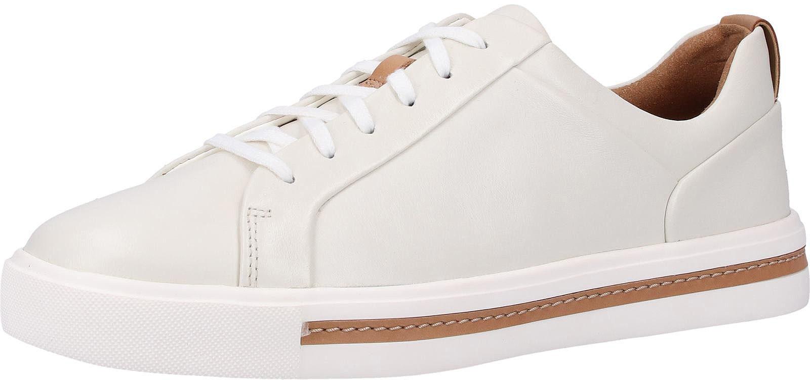 Clarks Sneaker Leder Weiß   Sneaker   Damenschuhe   surf4shoes