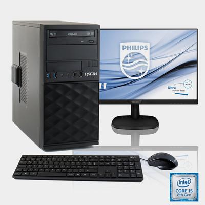 "HYRICAN Мультимедиа PC i5-8400 + 61 cm (24"") TFT + Office 365 Personal »SET1773«"