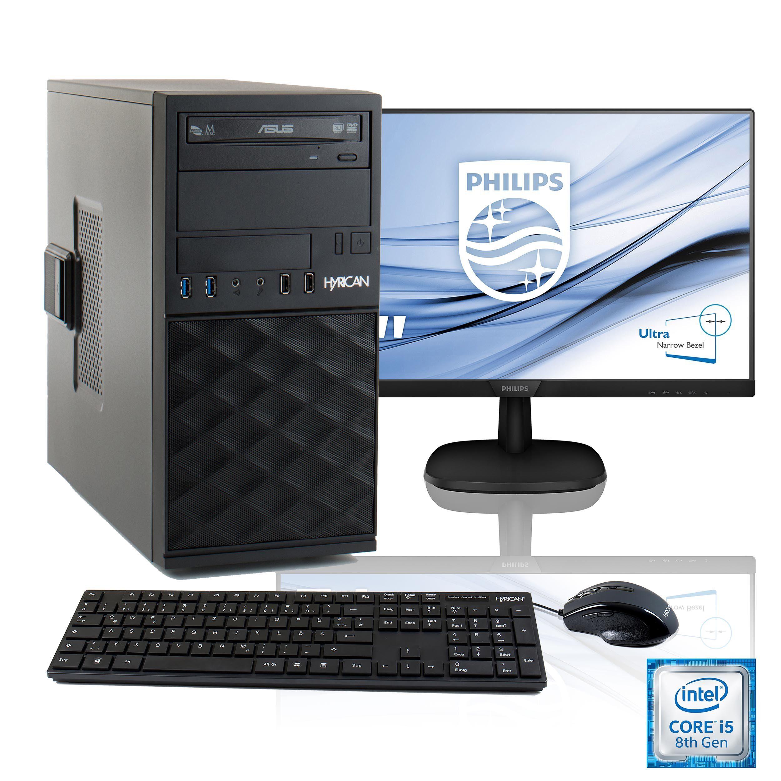 "HYRICAN Multimedia PC i5-8400 + 61 cm (24"") TFT + Office 365 Personal »SET1773«"