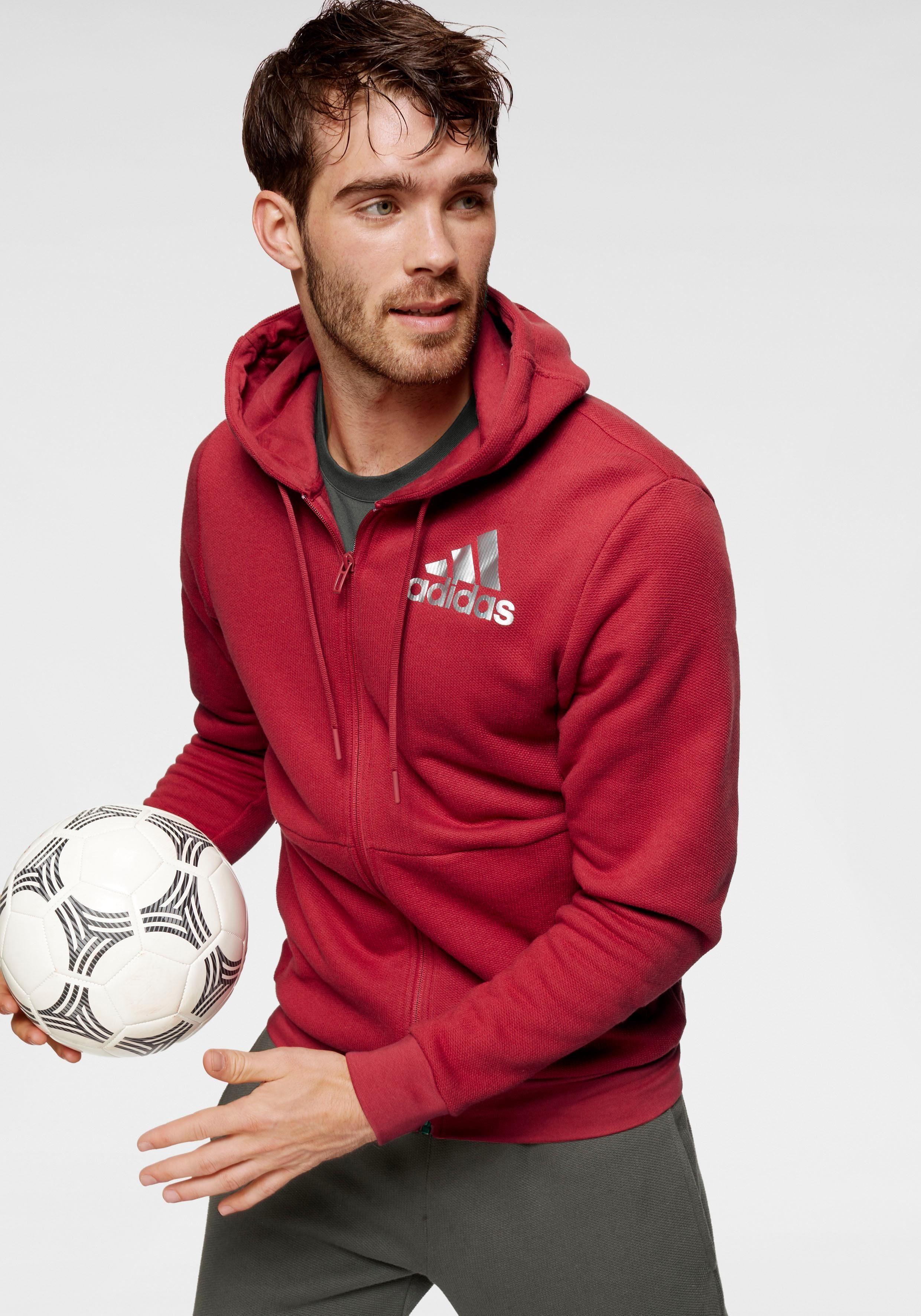 adidas Performance Trainingsjacke »MEN SOLID LOGO FULLZIP