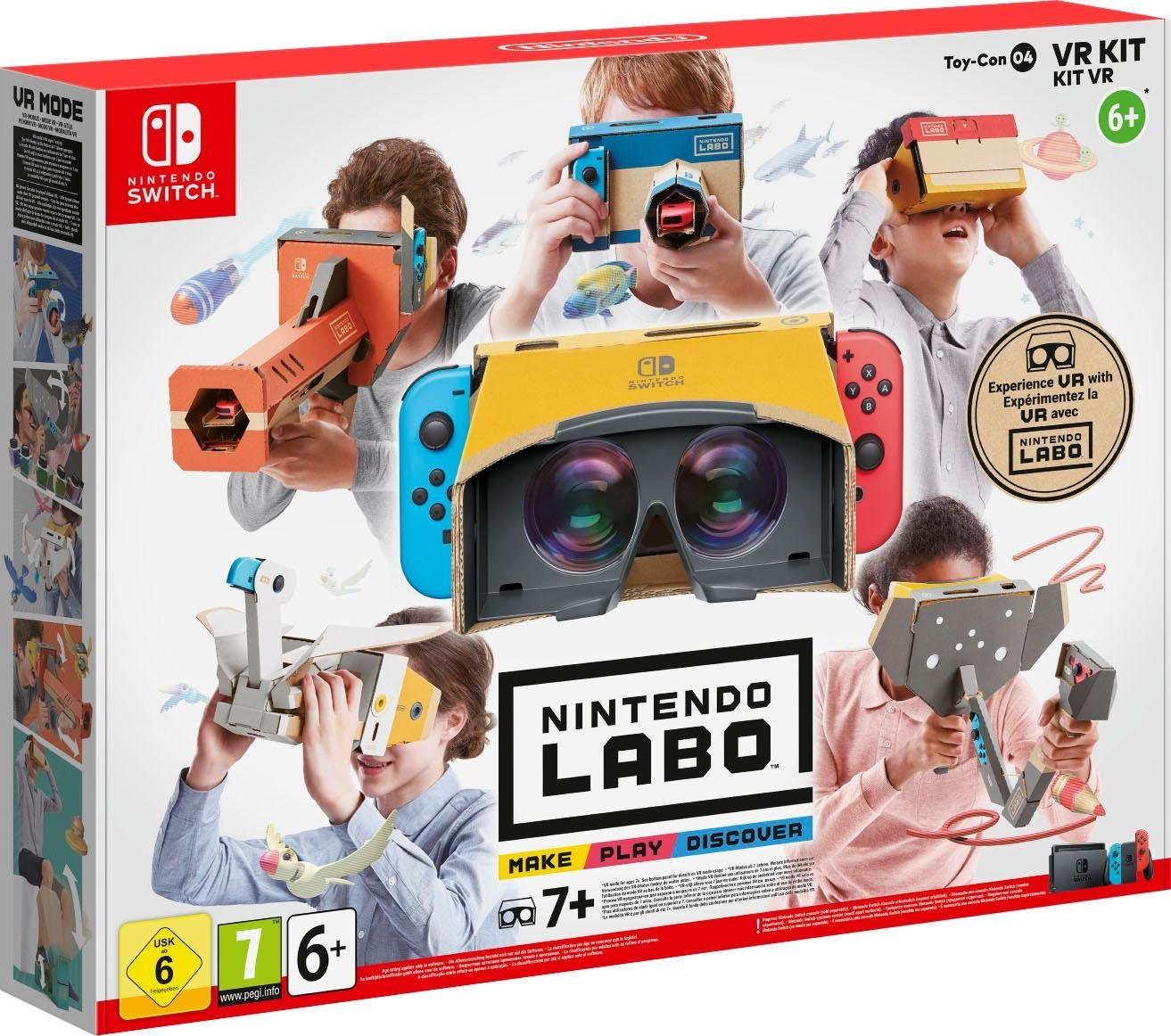 Image of Nintendo Labo - Toy-Con 04: VR-Set (VR-Brille, Software, Blaster, Kamera, Elefant, Vogel, Windpedal)
