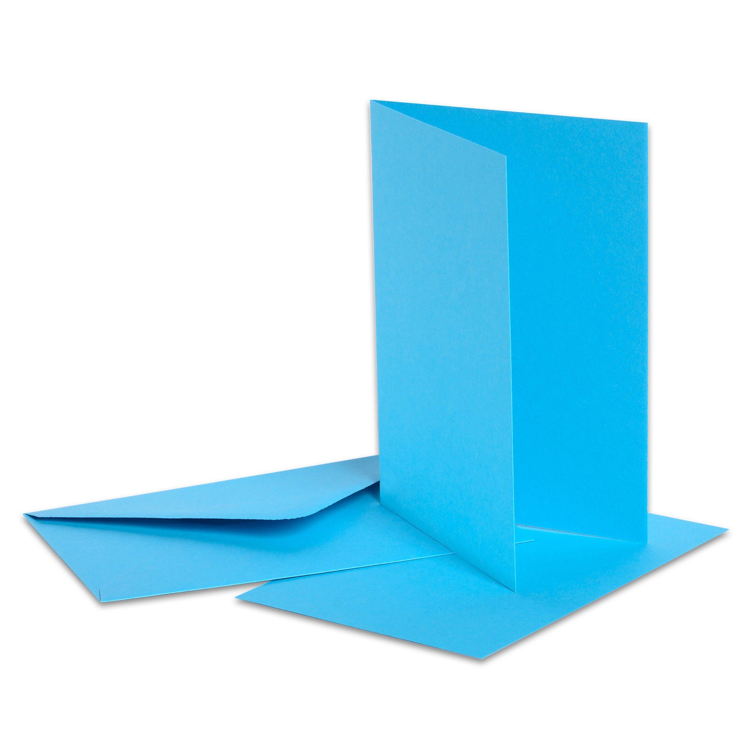 Folia Doppelkarten mit Umschlägen und Einlegeblättern, 15-tlg.