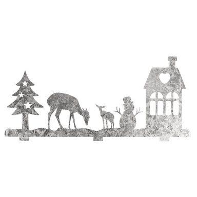 "Metall-Sillhouette ""Winterlandschaft"" 19 cm x 8,7 cm"