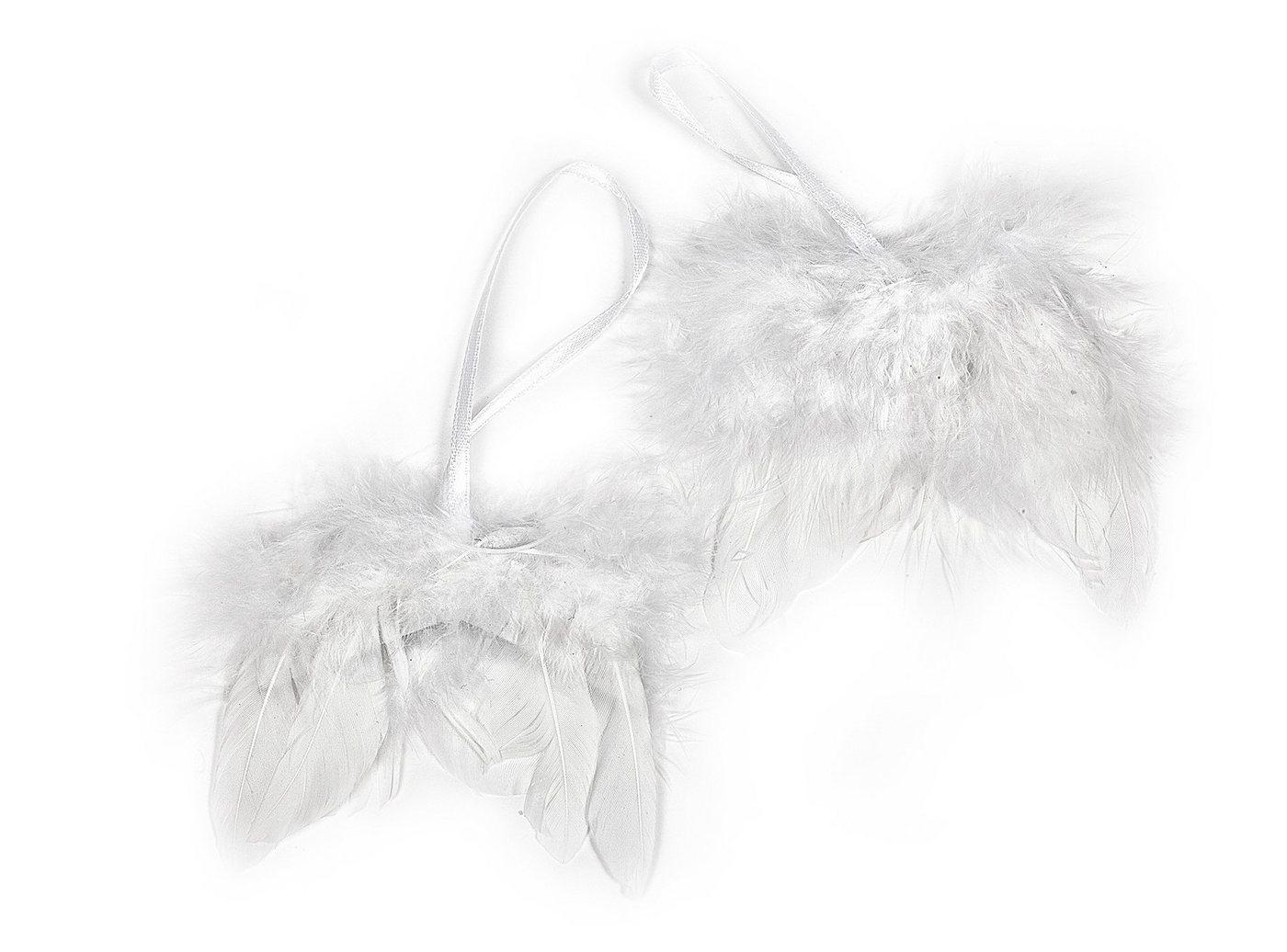 VBS Engelsflügel, weiß, 8cm, 2 Stück | Dekoration > Figuren und Skulpturen > Engel | VBS
