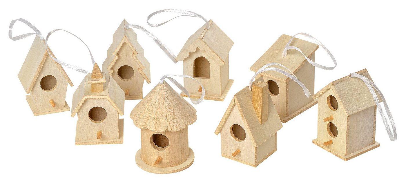 VBS Deko-Vogelhäuser ´´Minis´´, 8-er Set   Dekoration > Figuren und Skulpturen > Tiere   VBS