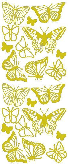 "Reliefsticker ""Schmetterling"""