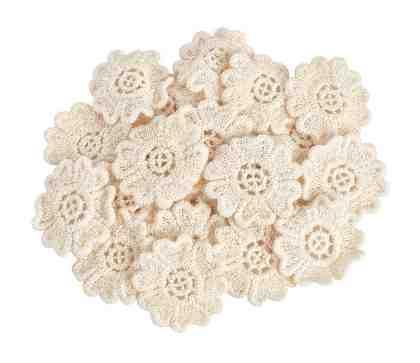 VBS Großhandelspackung 25 Häkel-Blumen