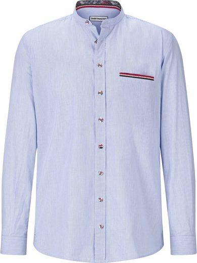 In Streifenhemd Brusttasche »frenchshirt« Einstecktuch Shirtmaster UZcy4x