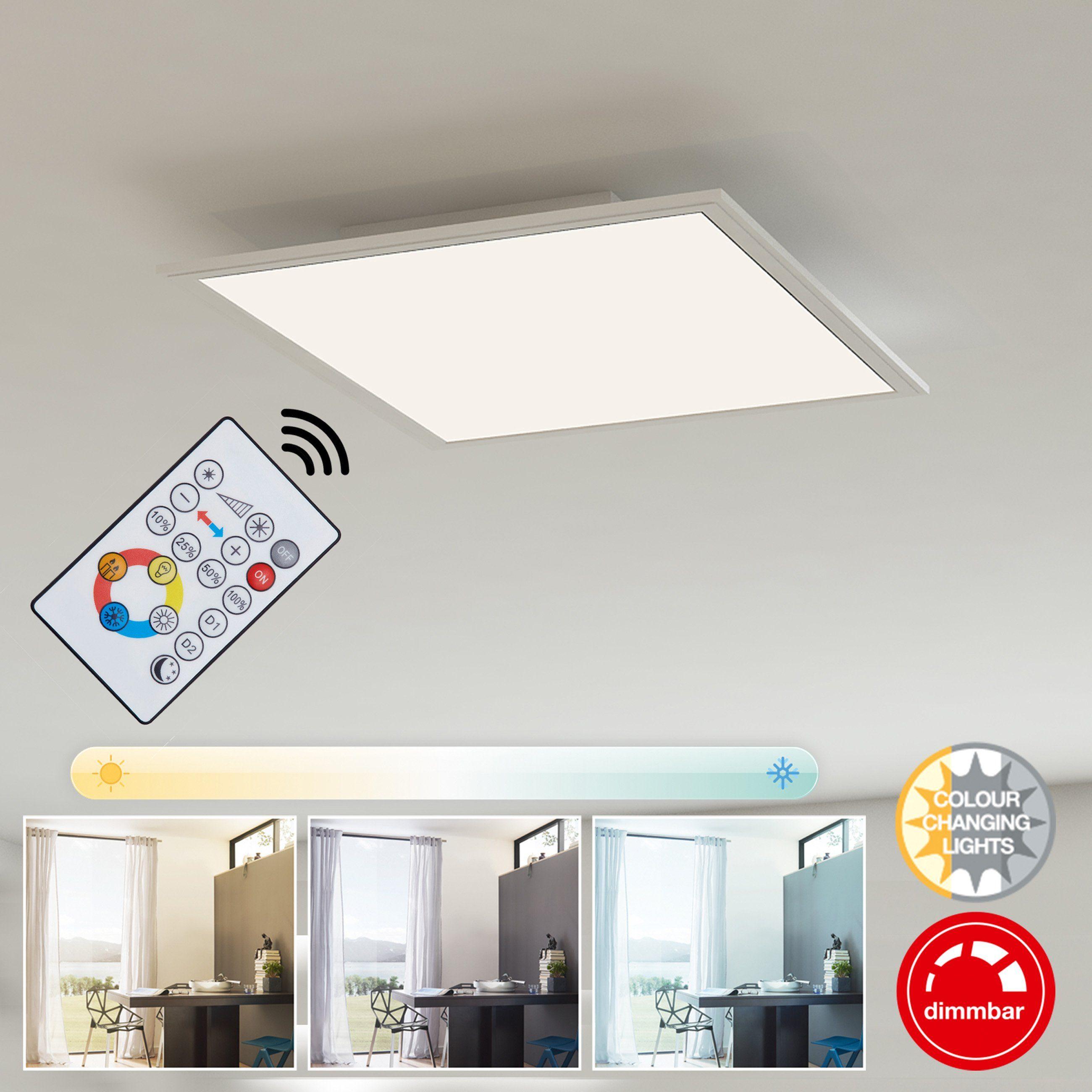 Briloner Leuchten LED Panel »Tim«, 1-flammig, Deckenleuchte dimmbar, Farbtemperatursteuerung