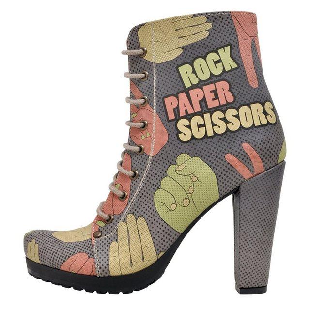 DOGO »Rock Paper Scissors« High-Heel-Stiefelette Vegan | Schuhe > High Heels > High Heel Stiefeletten | DOGO