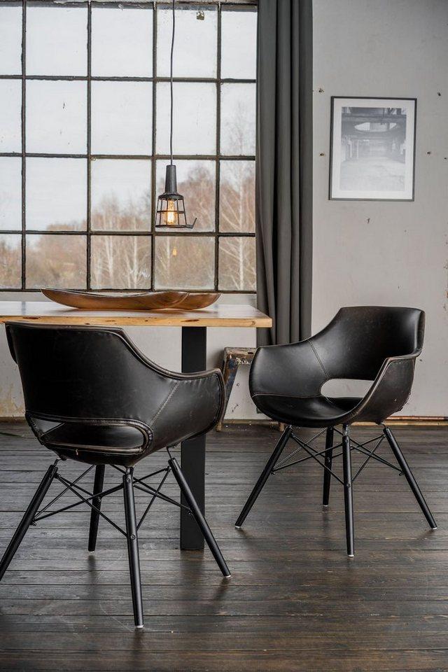 KAWOLA Essgruppe 9 Teilig Mit Tisch Baumkante U 8x Stuhl