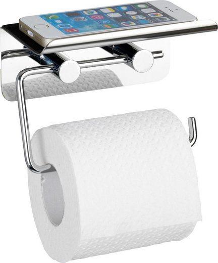 WENKO Toilettenpapierhalter mit Smartphone-Ablage