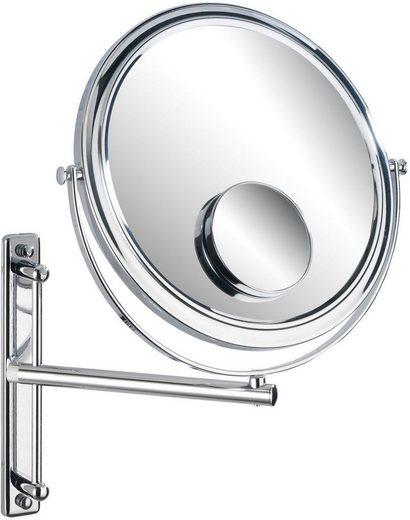 WENKO Kosmetikspiegel »Bivona«, Mit 100%-Spiegelfläche und 3- bzw. 7-fach Vergrößerung