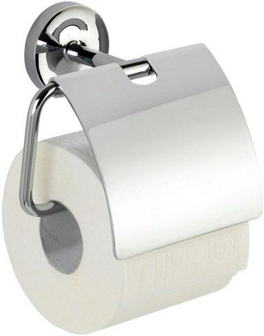 WENKO Power-Loc® Toilettenpapierhalter mit Deckel »Arcole«