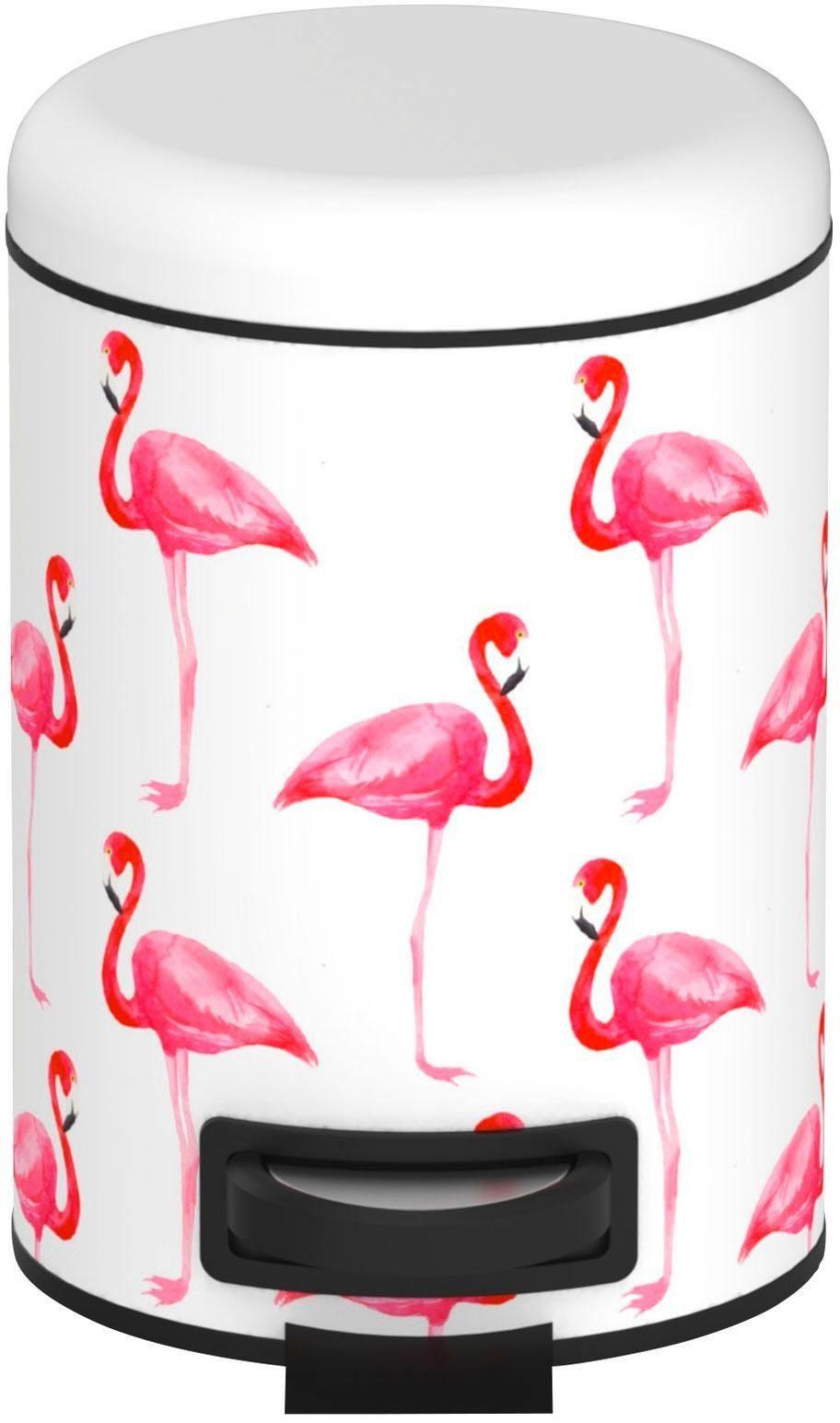 WENKO Kosmetik Treteimer »Flamingo«
