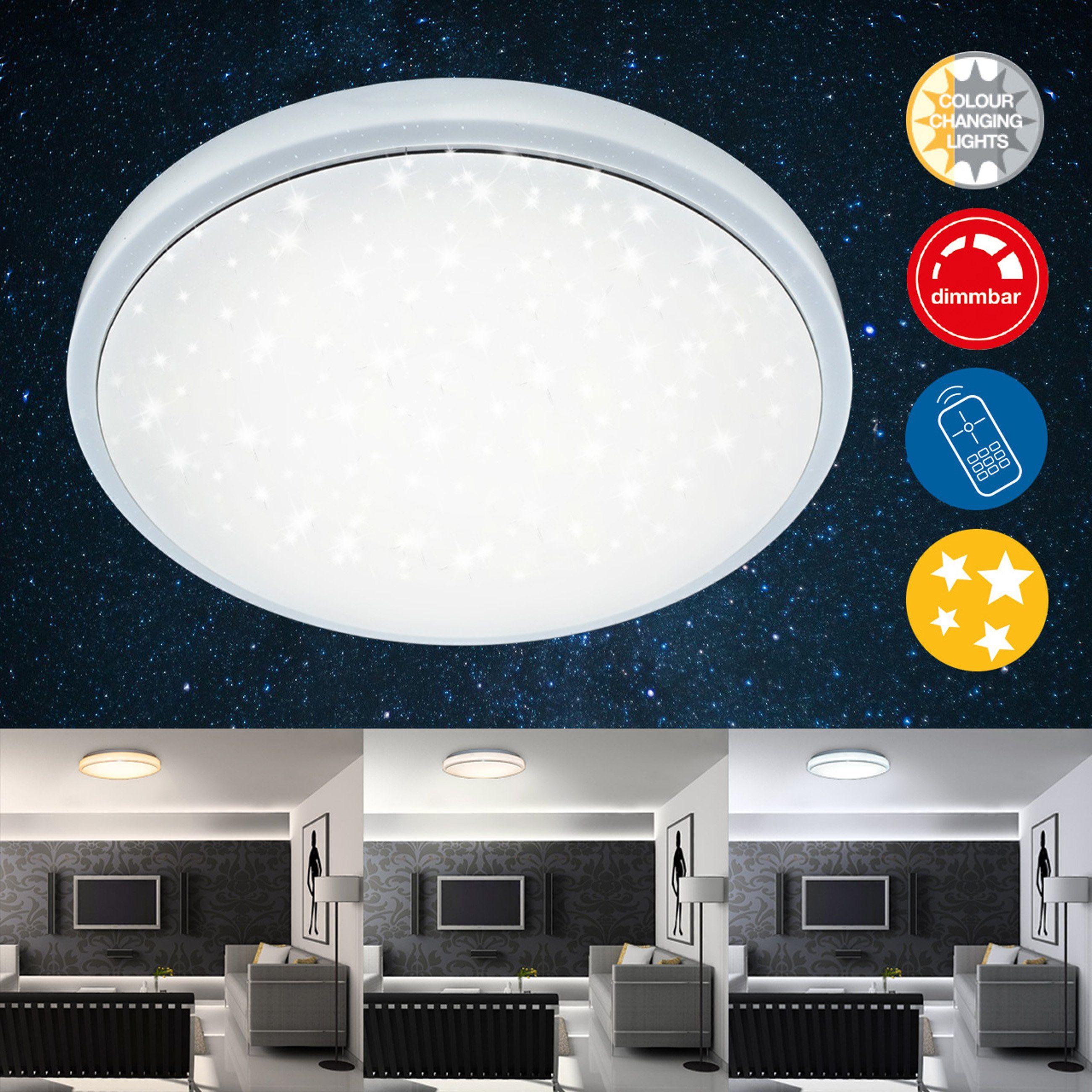 Briloner Leuchten LED Deckenleuchte »Bella«, 1-flammig, dimmbar, Lichtsteuerung, Nachtlichtfunktion, Ø40cm