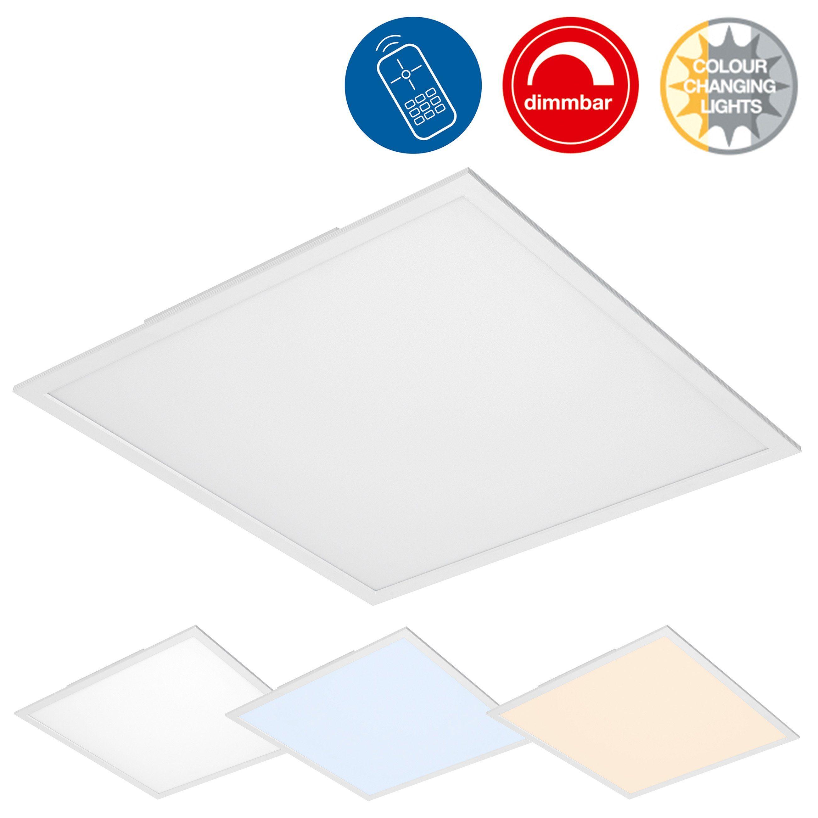 Briloner Leuchten LED Panel »Milo«, 1-flammig, Deckenleuchte dimmbar, Farbtemperatursteuerung