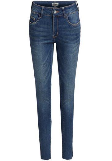 khujo Slim-fit-Jeans »SIMONETTA« mit offenem Saum