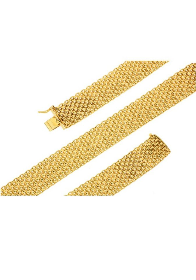 Firetti Goldarmband »Glanz, bombiert, halbmassiv, filigran«   Schmuck > Armbänder > Goldarmbänder   Goldfarben   Firetti