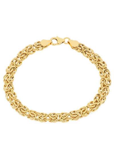 Firetti Goldarmband »Glanz, oval, Königskettengliederung«