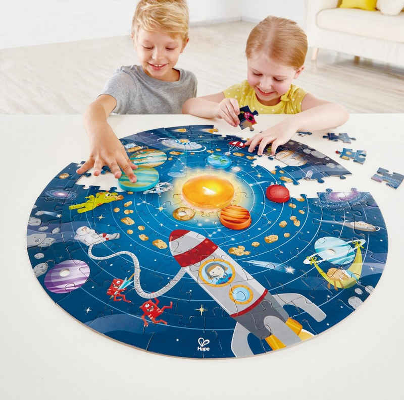 Hape Puzzle »Sonnensystem«, 102 Puzzleteile, mit Licht