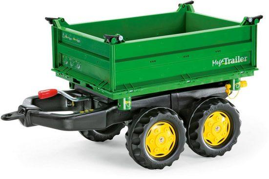 rolly toys® Kinderfahrzeug-Anhänger »Mega Trailer, grün mit gelben Felgen«, für Trettraktor