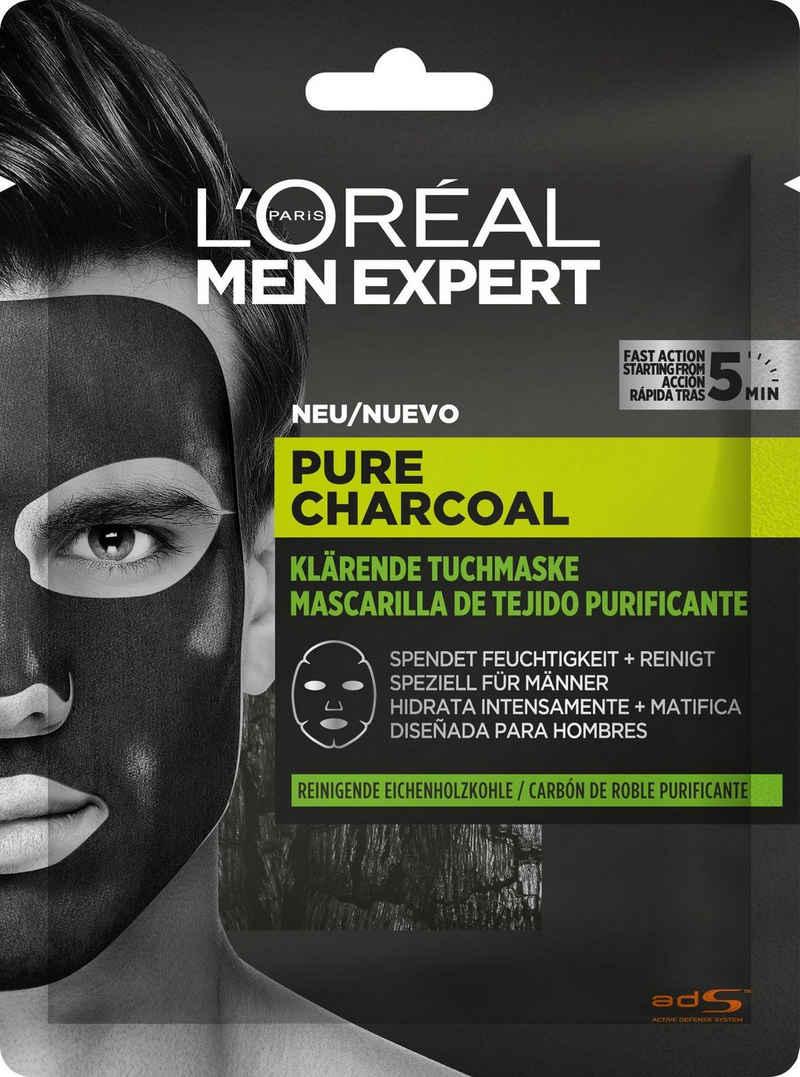 L'ORÉAL PARIS MEN EXPERT Gesichtsmaske »Pure Charcoal Tiefenreinigende Tonerde«, beseitigt Hautunreinheiten & klärt das Hautbild