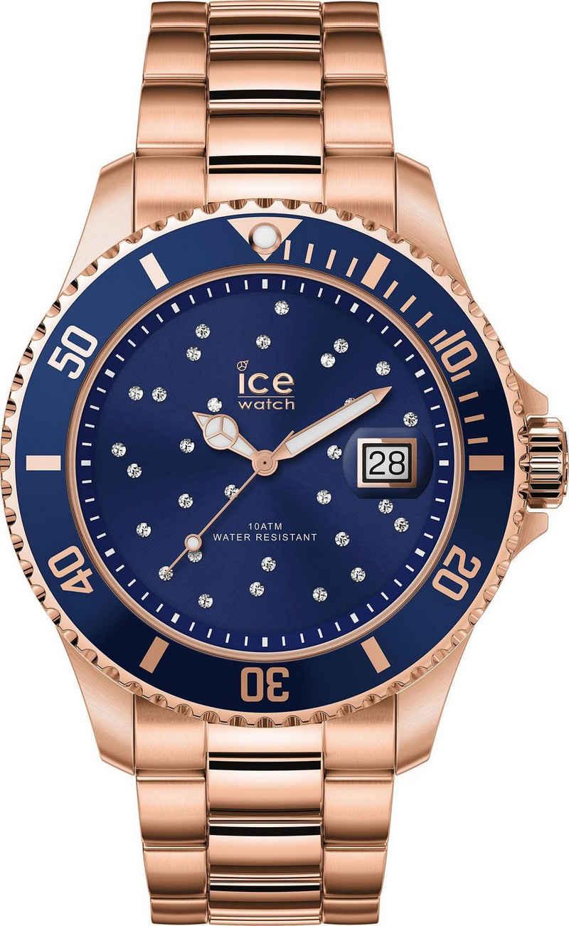ice-watch Quarzuhr »ICE steel - Blue Cosmos Rosegold - Medium - 3H, 16774«