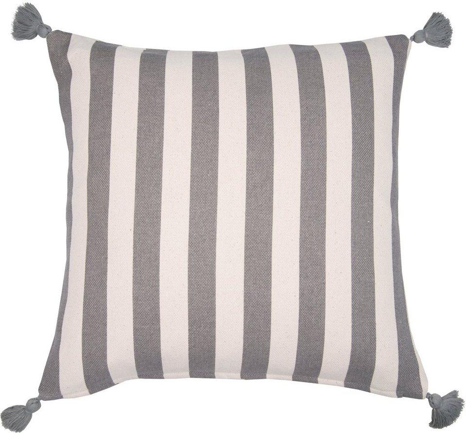 Kissenbezug Rustic Stripes Tom Tailor Mit Streifen Und Pompons Online Kaufen Otto
