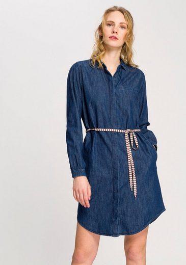 Esprit Jeanskleid (2-tlg., mit abnehmbarem Gürtel) mit Webgürtel auf Taillenhöhe