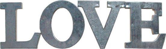 Home affaire Metallbeschlag Dekobuchstaben »LOVE« (4er Set)