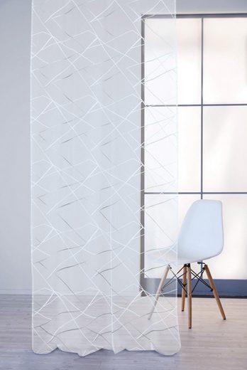 Vorhang »Stix 122X245«, APELT, Ösen (1 Stück), Stix, Ösenschal mit Metallösen