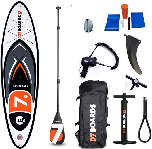 D7 Inflatable SUP-Board »iSUP-Board 10.8 Universal XL«, (Set, 9 tlg)