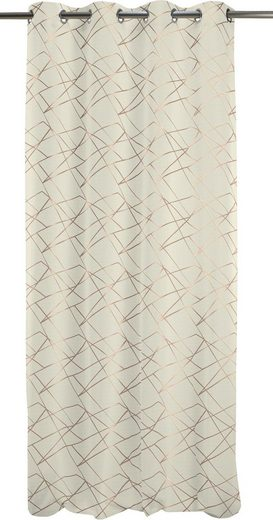 Vorhang »Vio 135X245«, APELT, Ösen (1 Stück), Vio, Ösenschal mit Metallösen