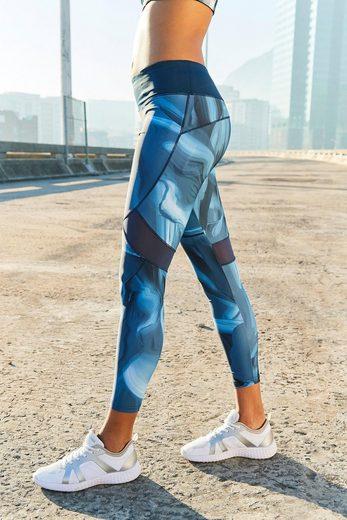 LASCANA Leggings »Like a Feather« mit kontrastfarbenen Mesh-Einsätzen