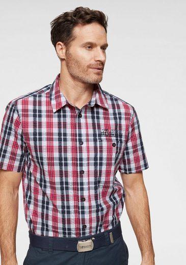 Man's World Kurzarmhemd in Seesucker-Optik