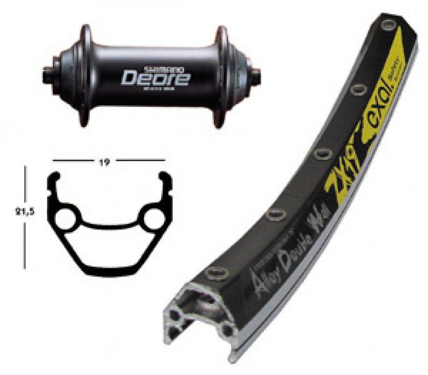 Exal Laufrad »ZX 19 V-Rad 26 x 1.75 mit Deore Nabe«