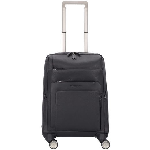 Piquadro Feels 4-Rollen Businesstrolley Leder 55 cm Laptopfach