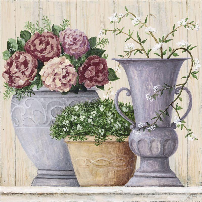 Artland Wandfolie »A. S.: Antike Blumen_hell«